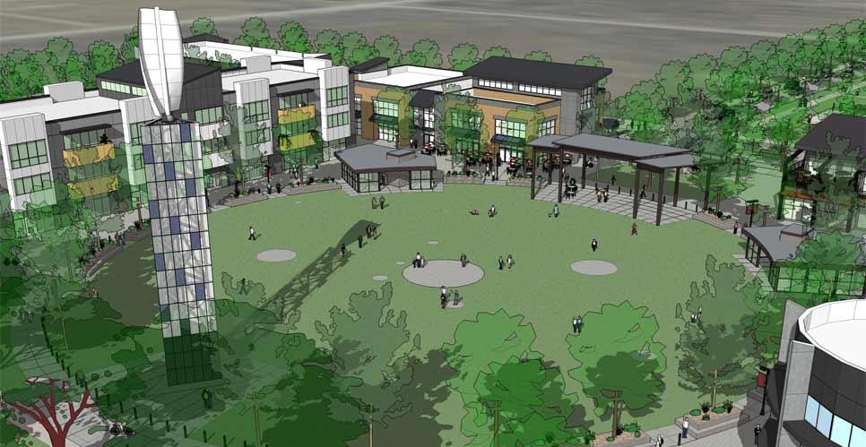 Innovation Center - master plan rendering